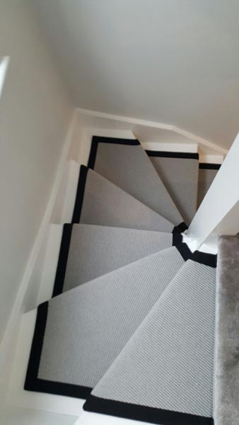 portfolio carpets stairs grey carpet runner with balck border 14