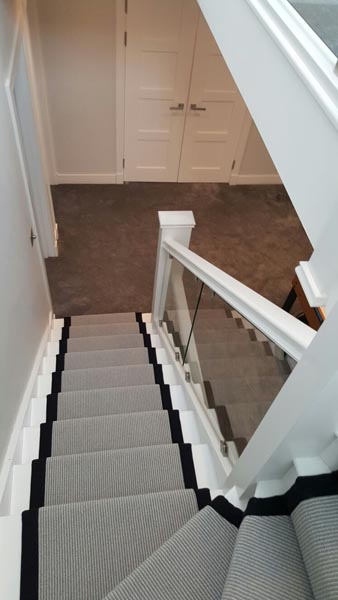 portfolio carpets stairs grey carpet runner with balck border 15