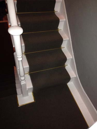 portfolio carpets stairs with brass stairrods 07