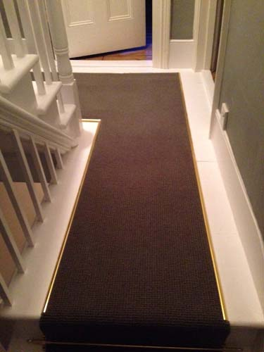 portfolio carpets stairs with brass stairrods 08