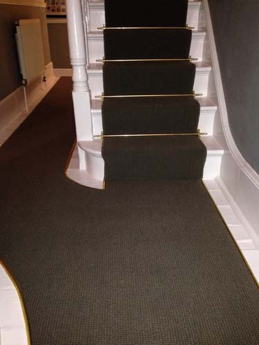 portfolio carpets stairs with brass stairrods 09