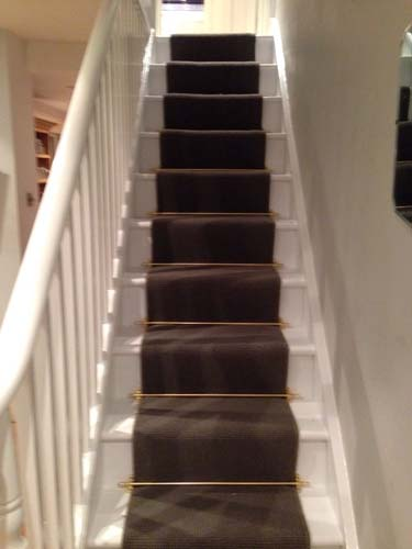 portfolio carpets stairs with brass stairrods 10