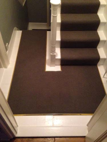 portfolio carpets stairs with brass stairrods 15
