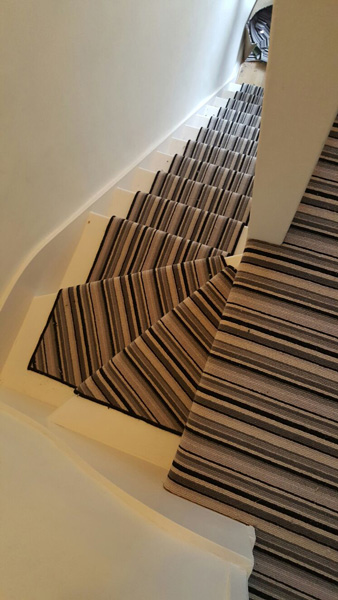portfolio carpets striped stair carpet 01