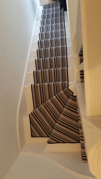 portfolio carpets striped stair carpet 02
