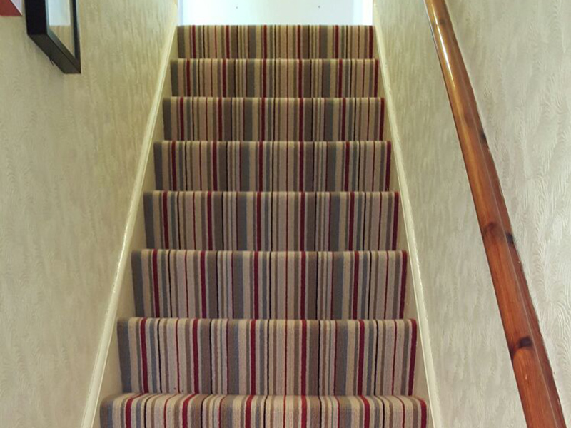 Striped Stair Carpet The Flooring Group