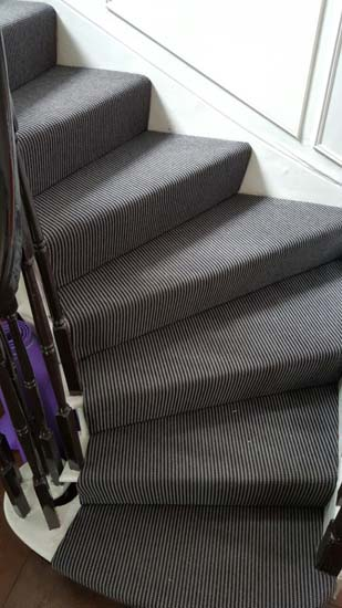 portfolio carpets stripey stair carpet black 01