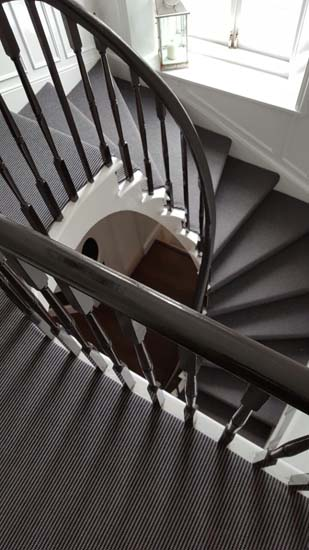 portfolio carpets stripey stair carpet black 02