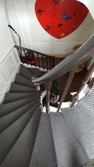 portfolio carpets stripey stair carpet black 04
