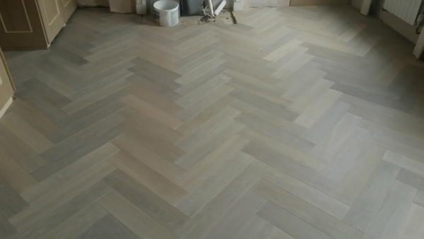 portfolio hardwood floors - herringbone wood install 02
