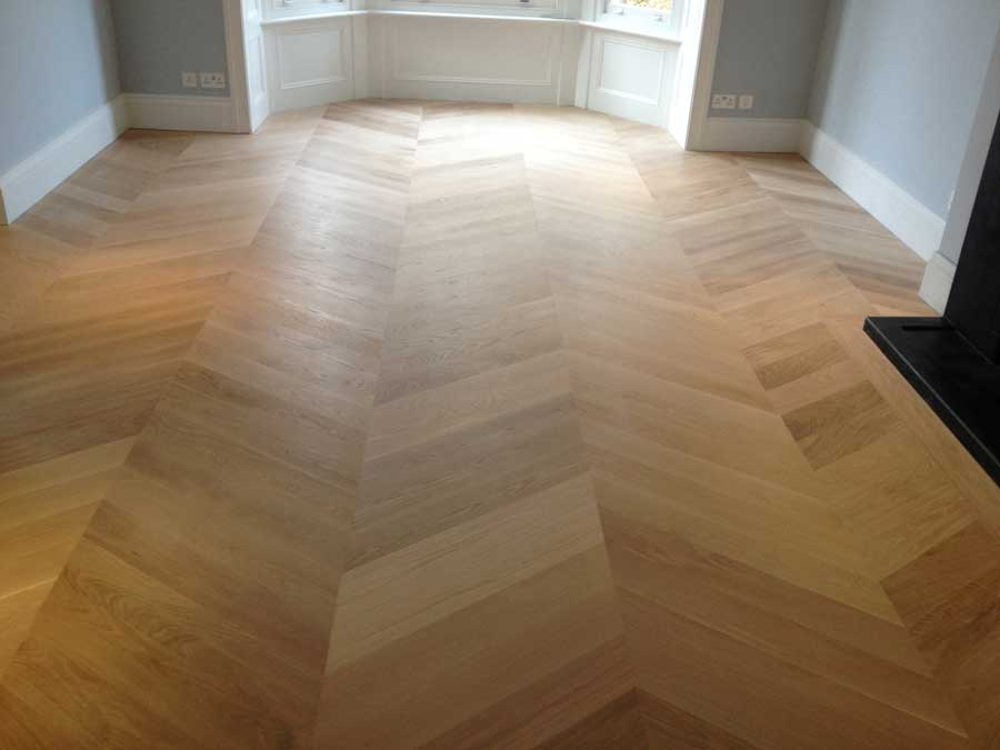 portfolio sanding and sealing mid-range oak herringbone 08
