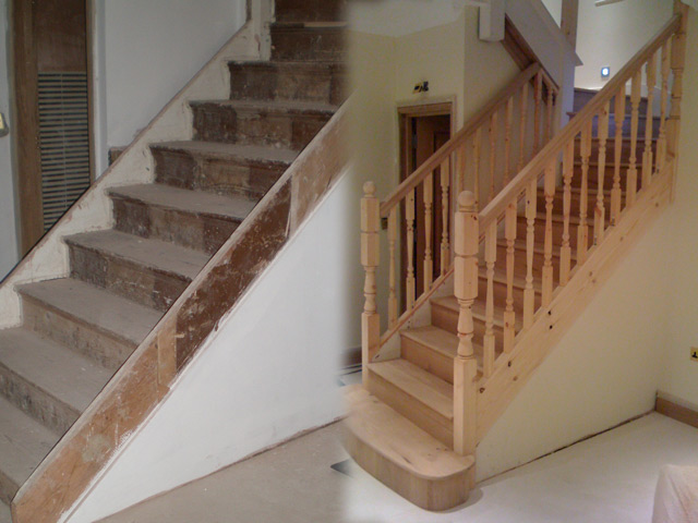 portfolio sanding and sealing stairs one