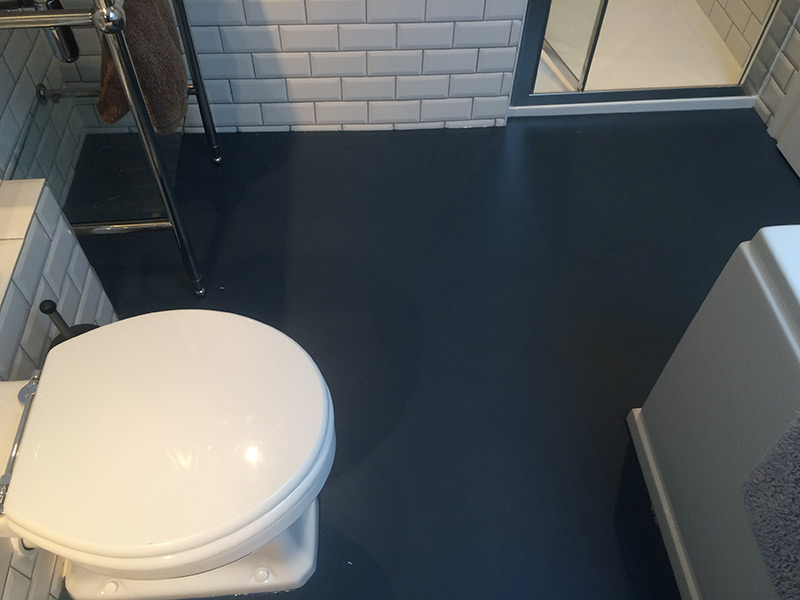 Bathroom In Marmoleum