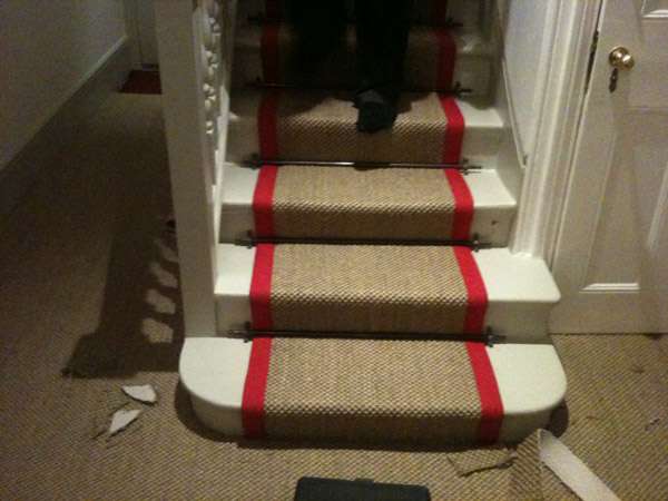 red border carpet stairs 04