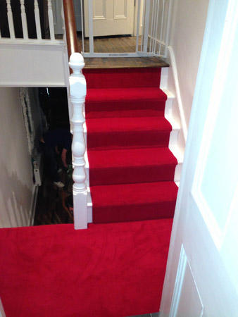 red carpet runner down stairs 1