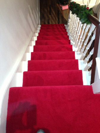 red carpet runner down stairs 2