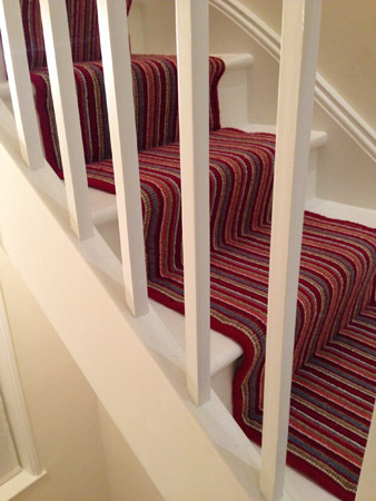 red multicoloured stair carpet 3