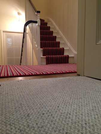 red multicoloured stair carpet 5