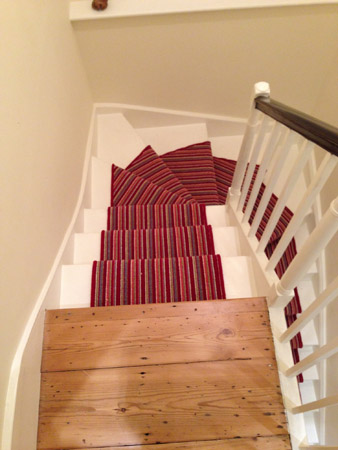 red multicoloured stair carpet 7