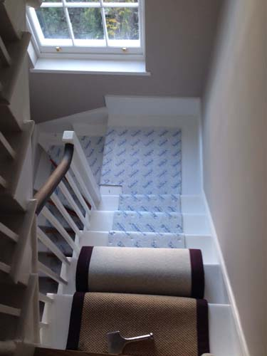 stair carpet black runner 7