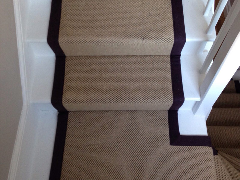 stair carpet black runner