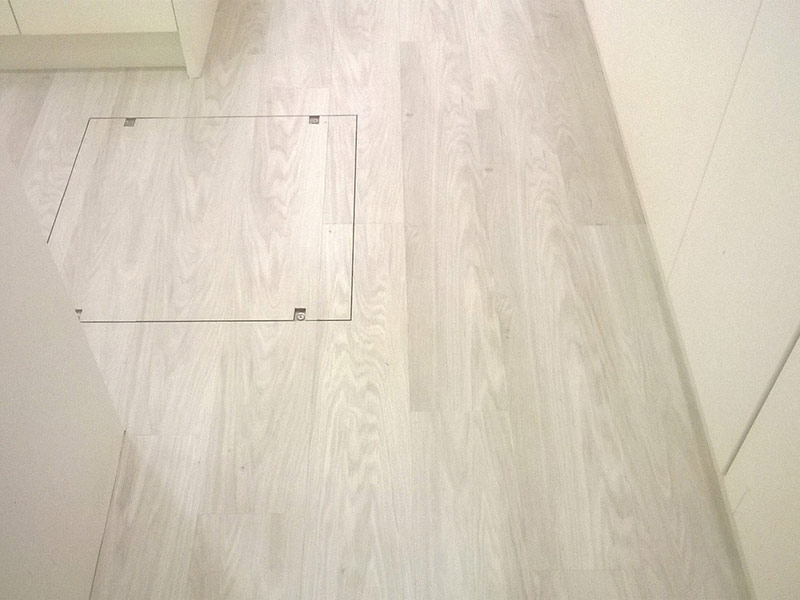 wood to client's living areas